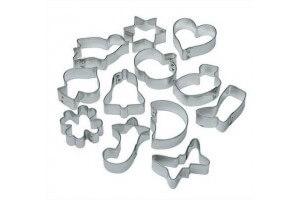 Set de 12 emporte pièces en fer blanc LARES
