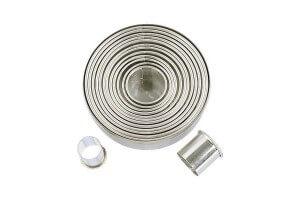 Set 14 emporte pièces ronds inox PATISSE de 3.5 à 11cm