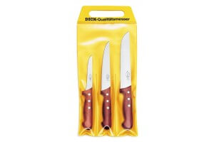 Pochette de 3 couteaux de boucher DICK Bois désosseur+saigner+boucher