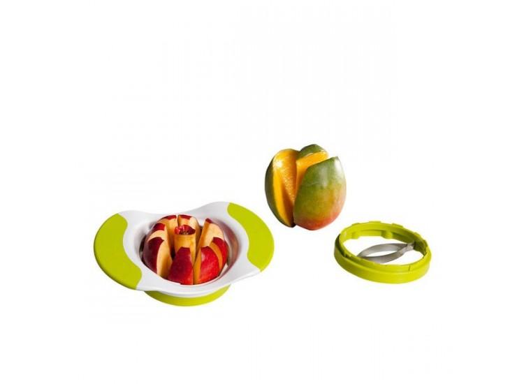 Coupe-pommes et mangues KITCHEN ARTIST 2 lames interchangeables + poignées