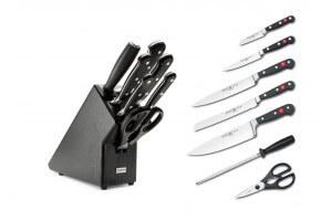 Bloc couteaux 7 pieces noir Wusthof Classic - Edition limitée 200 ans