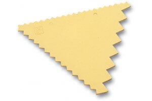 Peigne de décor triangle 9.3 x 8.3cm