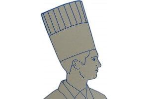 Lot de 10 toques de chef en papier taille réglable 26.5cm