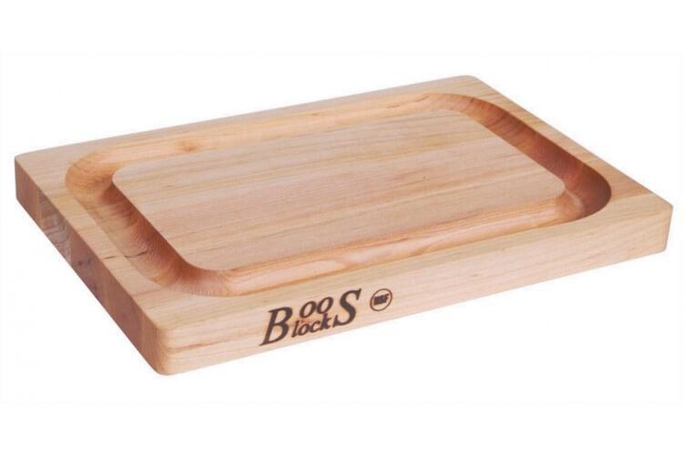 Planche à découper Boos Blocks double-face avec rigole en bois d'érable 31x20cm