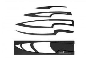 4 couteaux Meeting Deglon gigogne revêtement noir anti-adhérent