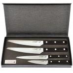 Coffret de 4 couteaux de cuisine Scalène Au Nain manche noir