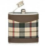 Flasque Keen Sport 150ml bouchon baionnette, gainée tissu écossais