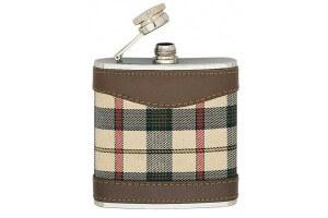 Flasque Keen inox Sport 150ml bouchon baionnette, gainée tissu écossais