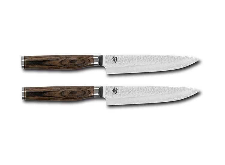 Coffret 2 couteaux à steak damassés Shun Premier Tim Mälzer 15cm