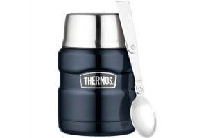 Lunch box Thermos® King inox + cuillère pliante - 0.47L