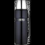 Bouteille Thermos® King inox double paroi + tasse et poignée- 1.20L