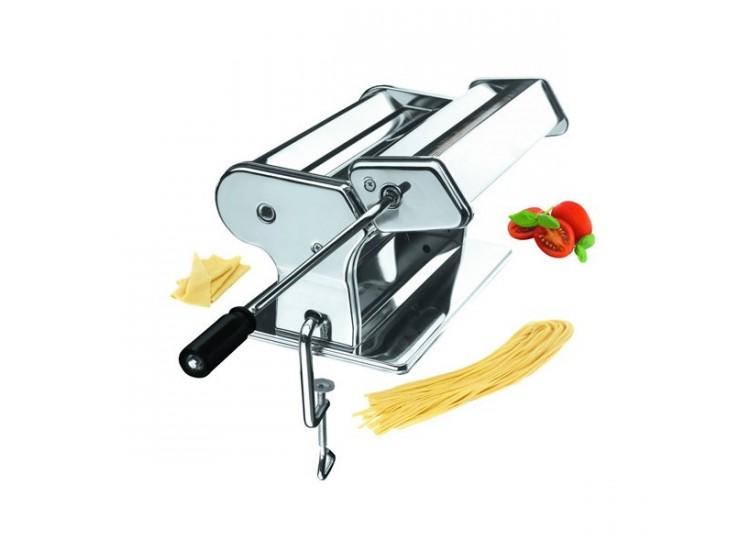 Machine à pâtes ergonomique et manuelle en inox - 9 positions + abaisse 260mm