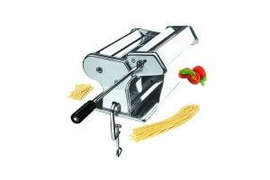 Machine à pâtes ergonomique et manuelle inox 9 positions+abaisse 260mm