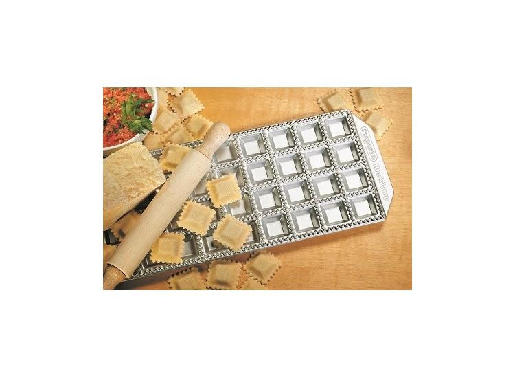 Moule Imperia 36 raviolis carré 35x35mm aluminium + rouleau