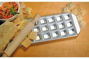 Moule Imperia 24 raviolis carrés 35x35mm aluminium + rouleau