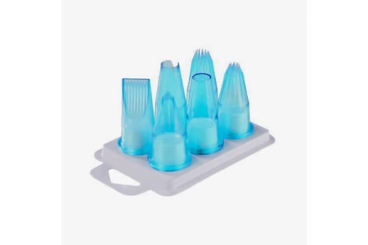 Assortiment de 6 douilles pâtissières polycarbonate bleu