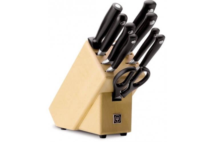 Bloc couteaux 9 pièces Grand Prix 2 de Wusthof - lame  cm