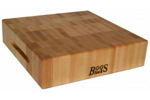 Planche à découper épaisse Boos Blocks Gourmet bois d'érable 38x38x7.5cm