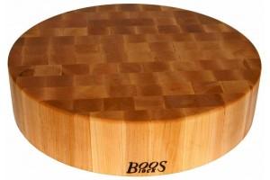 Planche à découper ronde et épaisse Boos Blocks Gourmet bois d'érable