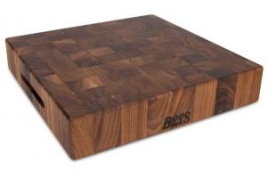 Planche à découper Boos Blocks Gourmet en noyer noir 38x38x7.5cm