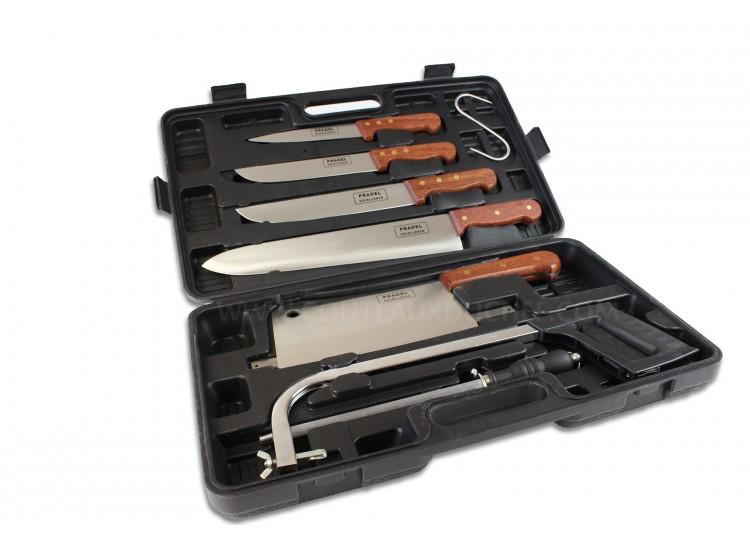Malette de 7 couteaux et accessoires pour bouchers et chasseurs Pradel Excellence