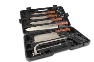 Malette de 8 couteaux et accessoires pour bouchers et chasseurs Pradel Excellence