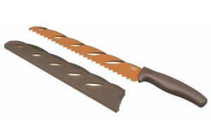 Couteau à pain Kuhn Rikon lame 26cm revêtement à motif original + étui