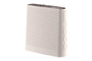Bloc vide et design BODUM silicone blanc jusqu'à 6 couteaux