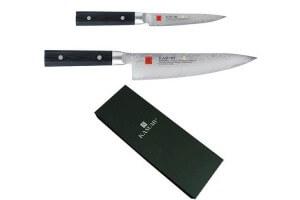 Coffret 2 couteaux japonais Kasumi Masterpiece damas haut de gamme