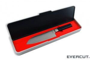 Couteau Evercut Santoku sans affutage lame 17 cm
