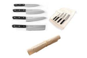 Malette de 4 couteaux japonais Tojiro DP plein manche acier VG10