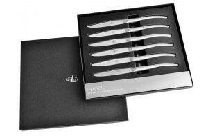 Coffret prestige 6 couteaux de table Forge de LAGUIOLE design P. STARCK