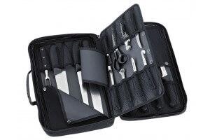 Malette 20 couteaux et accessoires professionnels BARGOIN souple