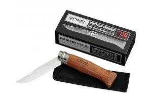 Couteau Opinel de luxe N°08 manche en padouk et lame inox