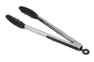 Pince à servir ergonomique 30cm embout en silicone noir