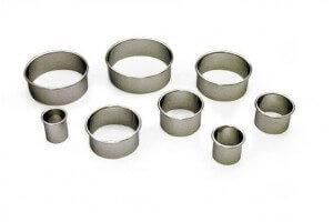 8 Emportes-pièces ronds unis de 2 à 9 cm