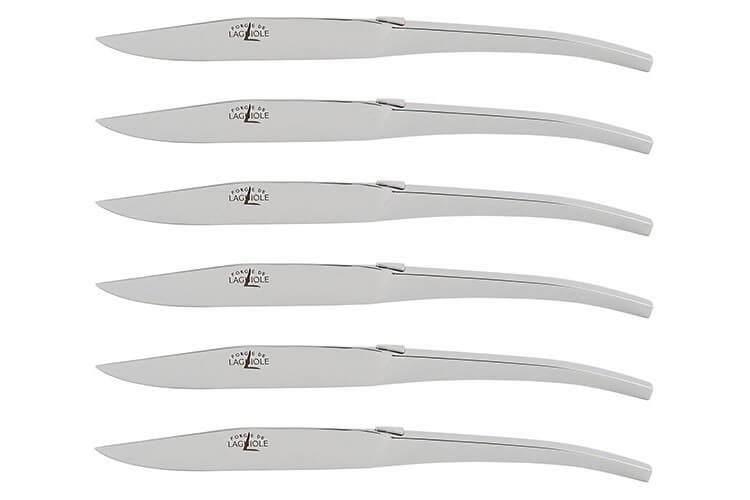 Coffret de 6 couteaux de table Forge de LAGUIOLE design C+B Lefebvre