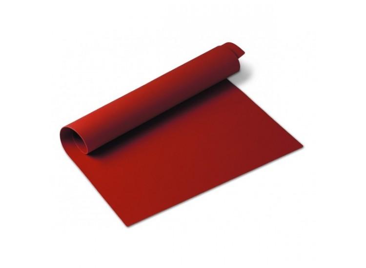 Tapis de cuisson en silicone 40x30cm coloris rouge