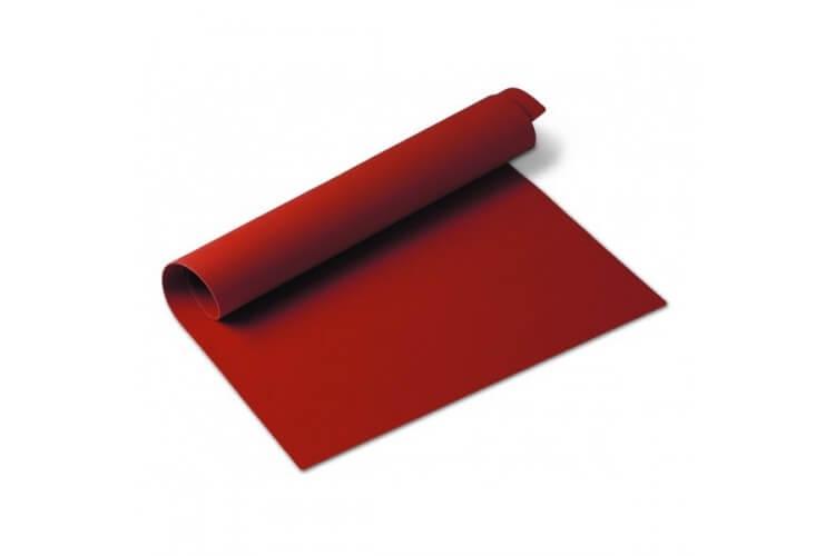 Tapis de cuisson en silicone 60x40cm coloris rouge