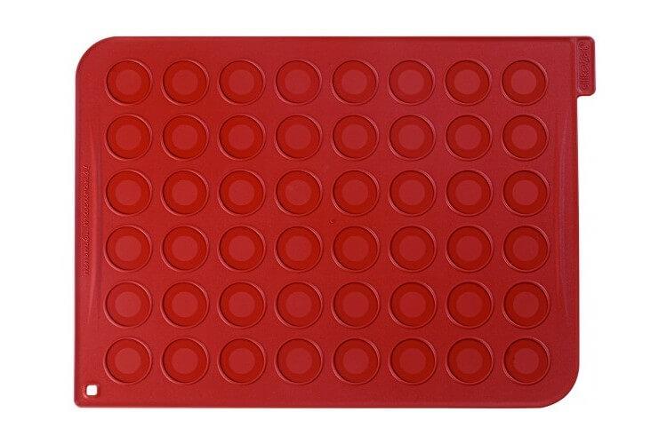 Plaque macarons en silicone 40x30cm 48 empreintes