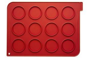 Plaque macarons en silicone 40x30cm 12 empreintes