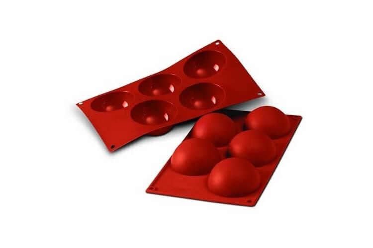 Moule professionnel en silicone Silicon Flex 300x175mm 5 demi-sphères