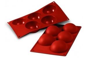 Moule professionnel en silicone Silikomart Silicon Flex 300x175mm 5 demi-sphères