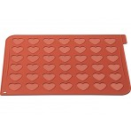 Plaque macarons en silicone 40x30cm 42 empreintes forme coeur