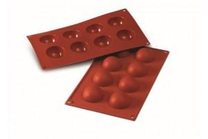 Moule professionnel en silicone Silikomart Silicon Flex 300x175mm 8 demi-sphères 5cm