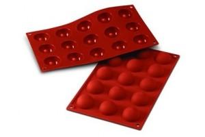 Moule professionnel en silicone Silikomart Silicon Flex 300x175mm 15 demi-sphères 4cm