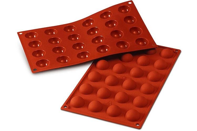 Moule en silicone professionnel Silicon Flex 300x175mm 24 demi-sphères 3cm