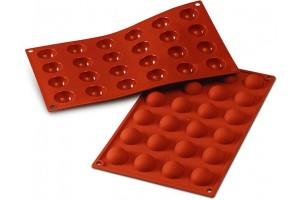 Moule en silicone professionnel Silikomart Silicon Flex 300x175mm 24 demi-sphères 3cm
