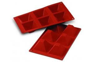 Moule en silicone professionnel Silikomart Silicon Flex 300x175mm 6 pyramides