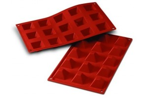 Moule en silicone professionnel Silikomart Silicon Flex 300x175mm 15 pyramides